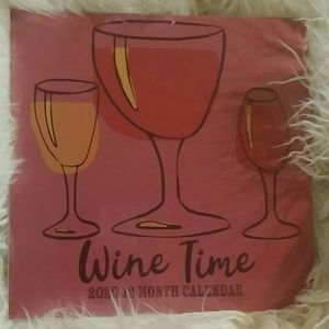 Wine Time 2020 12month Calendar Nwt witty wine say